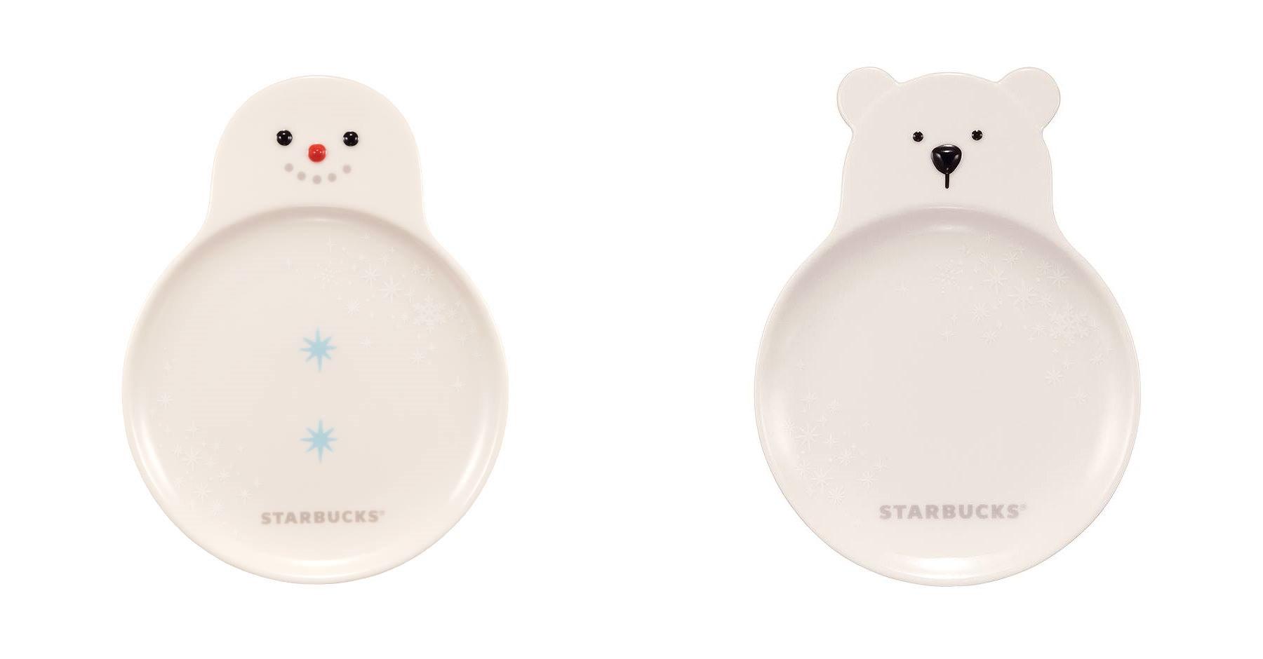 雪人和白熊形狀的盤子!!!! 這個真的太犯規了