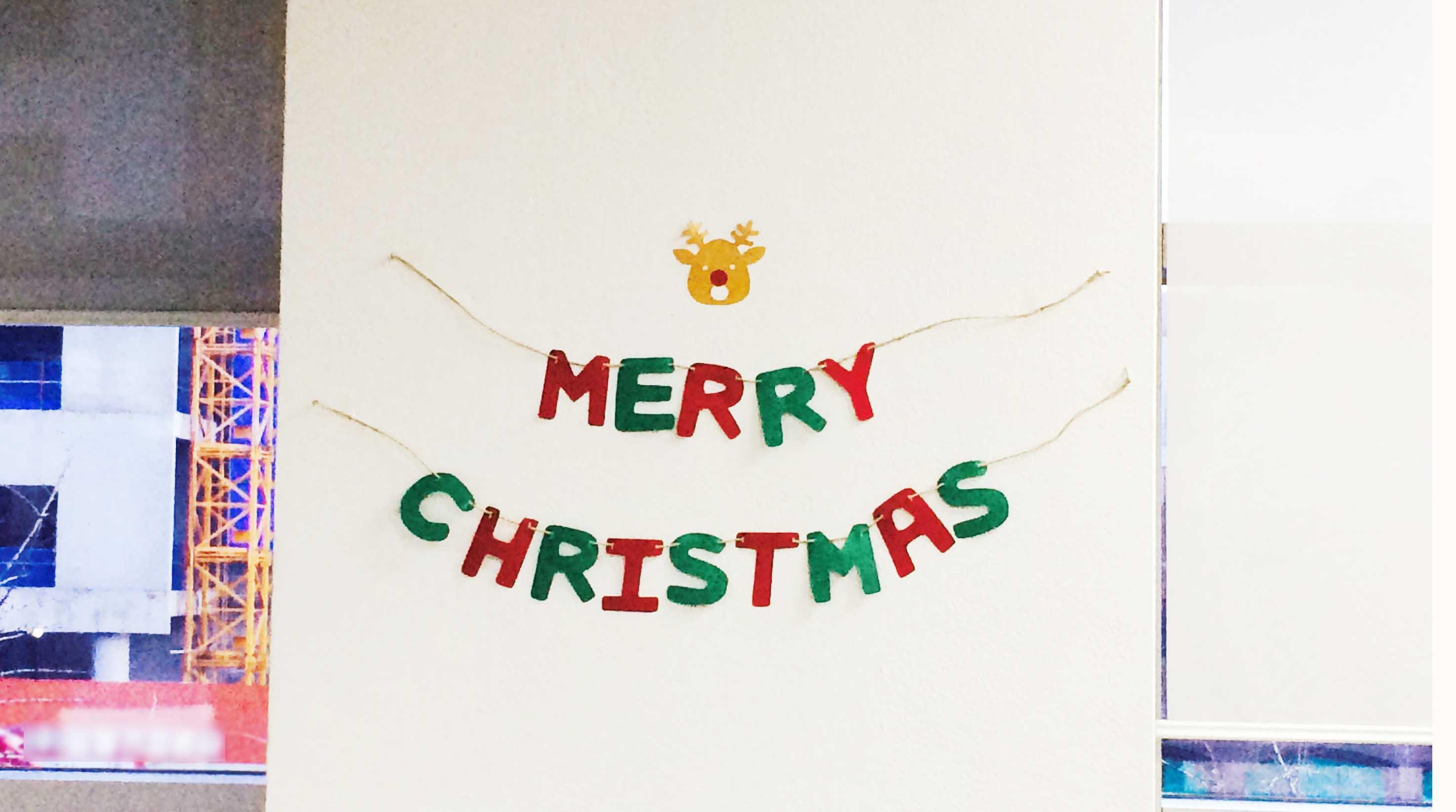 掛在辦公室的牆上,是不是瞬間就有聖誕節的感覺呢♪♪♪♪