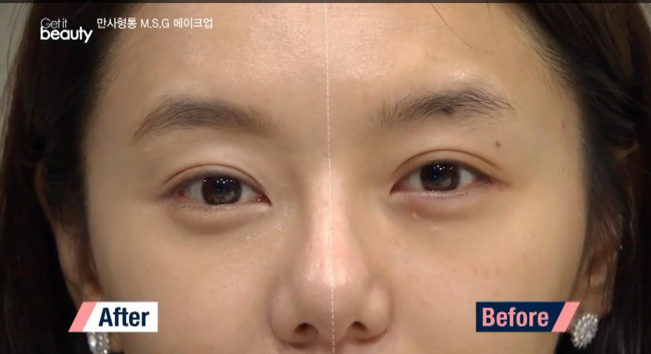 Step2. 不擅長畫平眉也沒關係,順著本來的眉型,畫出能夠包覆眼睛的初月形眉毛也可以喔!
