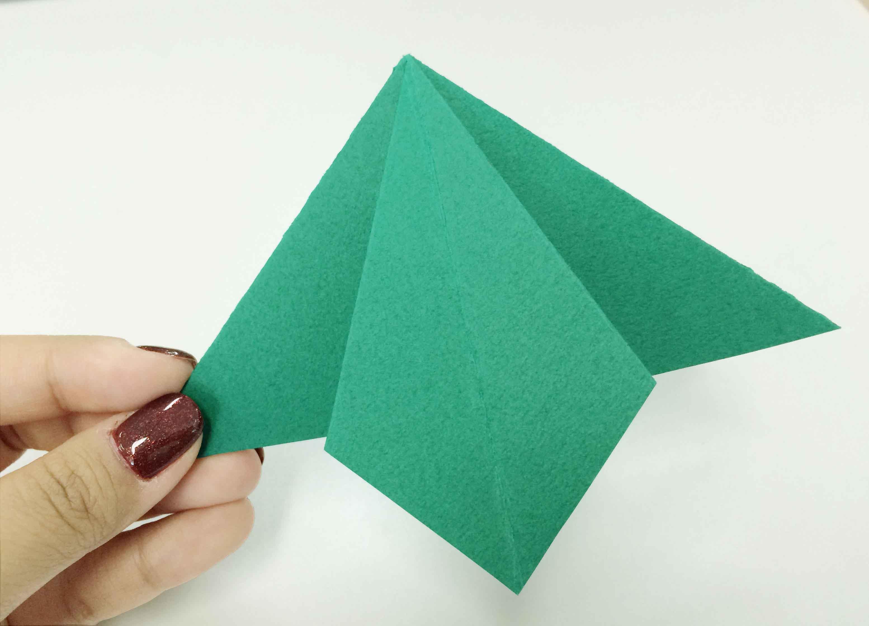 再看一遍,折出來的樣子就是這樣啦!:-)