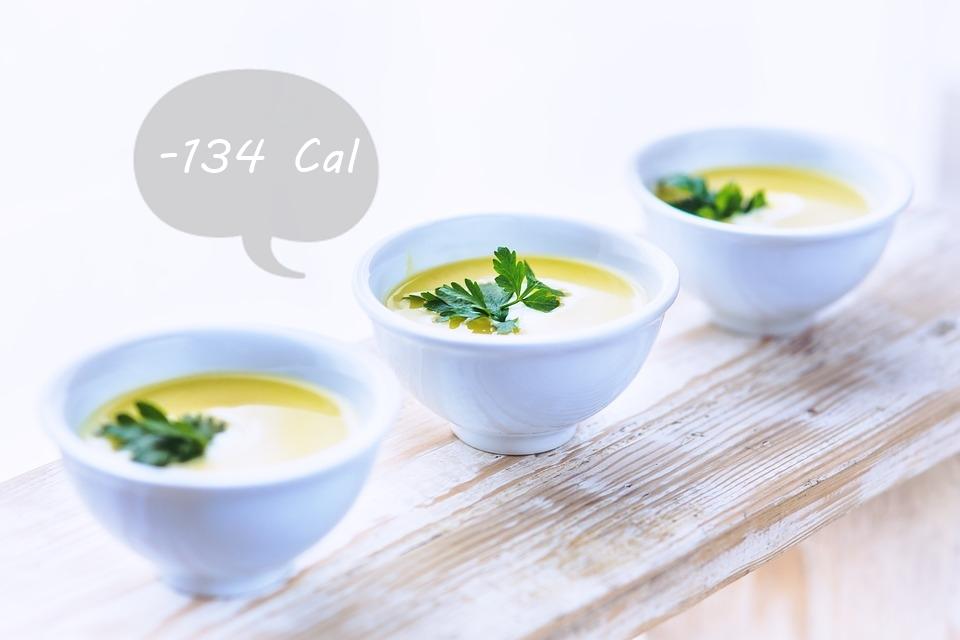 #9 飯前先喝湯 每餐飯前先喝湯,可以減少攝取134卡的熱量,一天下來也可能達到減少684卡的驚人數字!