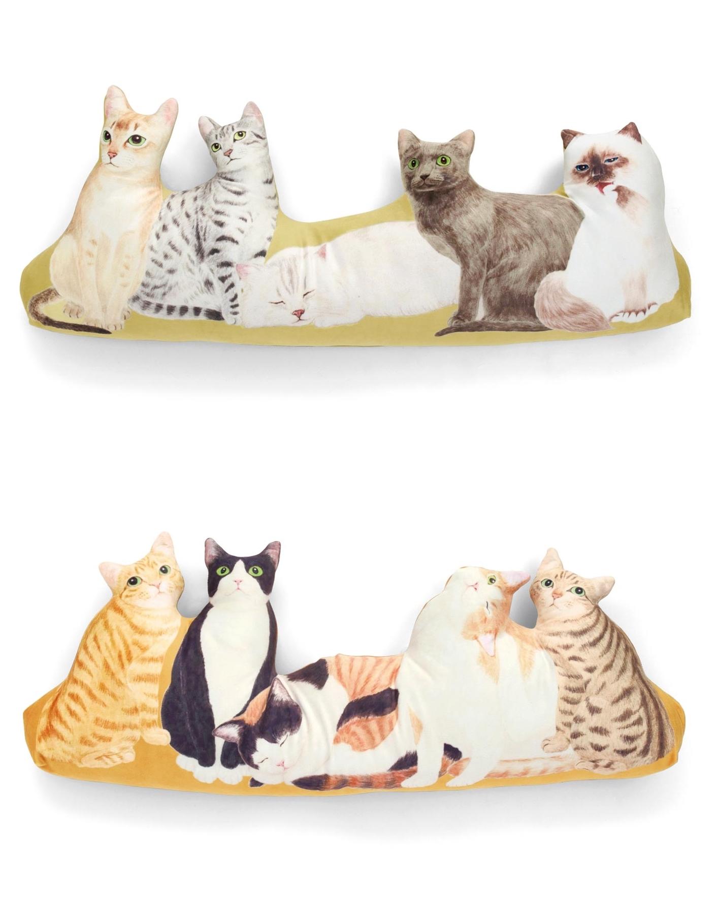 不能養貓就選造型靠墊來過過乾癮~各6,043 日圓