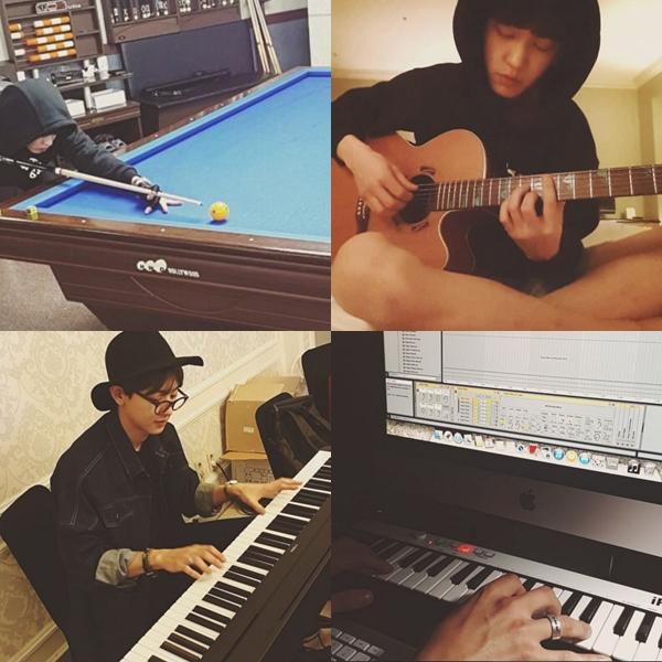 吉他、鋼琴、撞球、詞曲