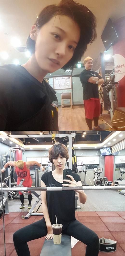 韓國網友看到她上健身房的照片受到刺激,決心要開始減肥XD