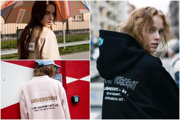 上衣設計也出現了很多文字款,不過上衣的設計比較多都是翻玩品牌名~