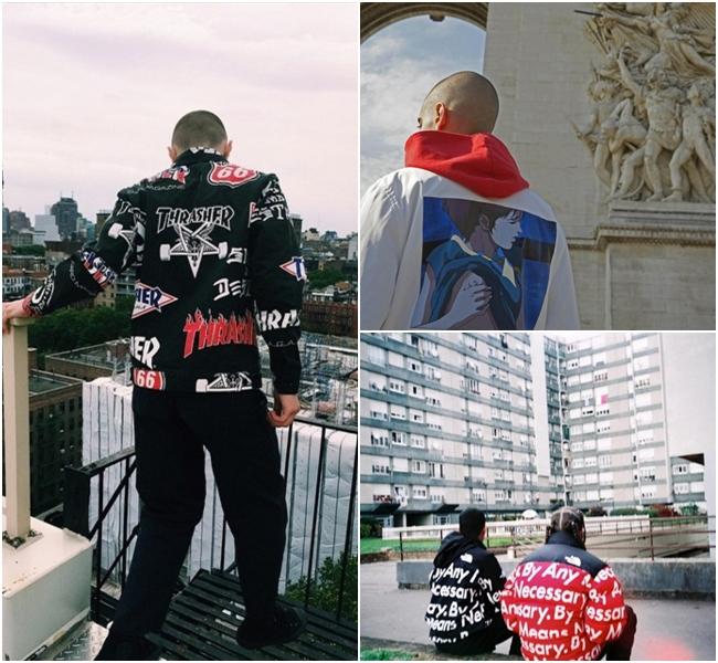 另外一個深受全球街頭時尚者喜愛的SUPREME在男女裝設計上也大量運用了塗鴉、漫畫、文字等設計,滿足喜歡獨特風格的時尚狂