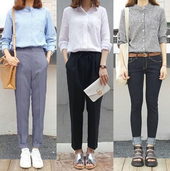 #1 襯衫 不管什麼身材的女生,偶爾都繪有需要穿襯衫的時刻。相較於豐滿上身,襯衫反而較適合纖細、扁身的女生!