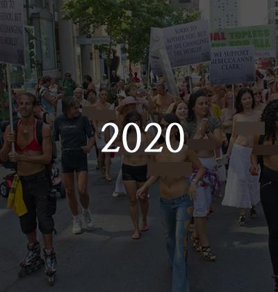 : 美國團體NGO爭取通過女性可以赤裸上身法案的年度