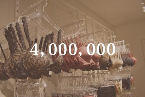 : 每天生產的內衣的個數