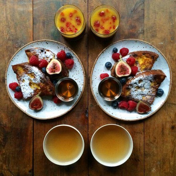 故事源於去年的某個春日,Michael Zee像往常一樣準備著早餐,但是這次有所不同的是,他把早餐做成對稱型!