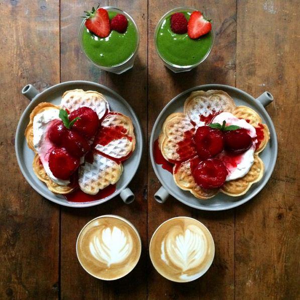 對於普通人來說,早上起床洗個臉都會覺得麻煩,更別說還要日復一日地製作如此美麗的早餐...♥≈