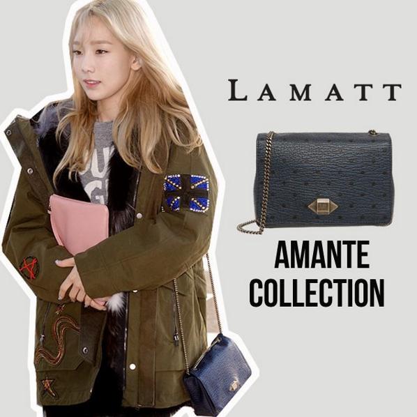 包包則是很多韓星都喜歡的Lamatt,小巧簡約的造型,去逛街背起來很合適~
