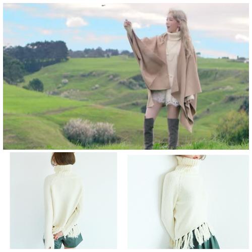 MV中的白上衣,還是來自celebee,哈哈哈!但可以看得出來太妍很適合甜美可愛的穿搭,利用流蘇等設計打造出精靈感~