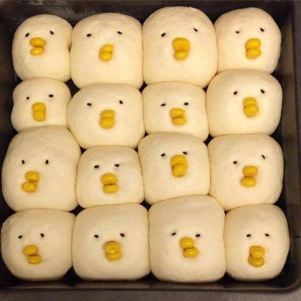 先跟大家說一下什麼是「小雞麵包」好了,就是圖片中的這種手撕麵包。