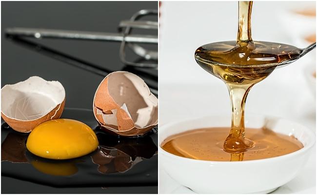 #2 蛋清+蜂蜜 作法:將蛋白與蜂蜜融合,敷在全臉,同時加強鼻頭的部分!30分鐘後就可以用溫水洗掉!因為蛋白跟蜂蜜都有清除老廢角質的效果!