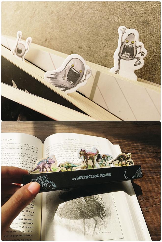 在書本中藏有驚喜的獨特造型標籤貼,一定要和好友一起分享的啊~