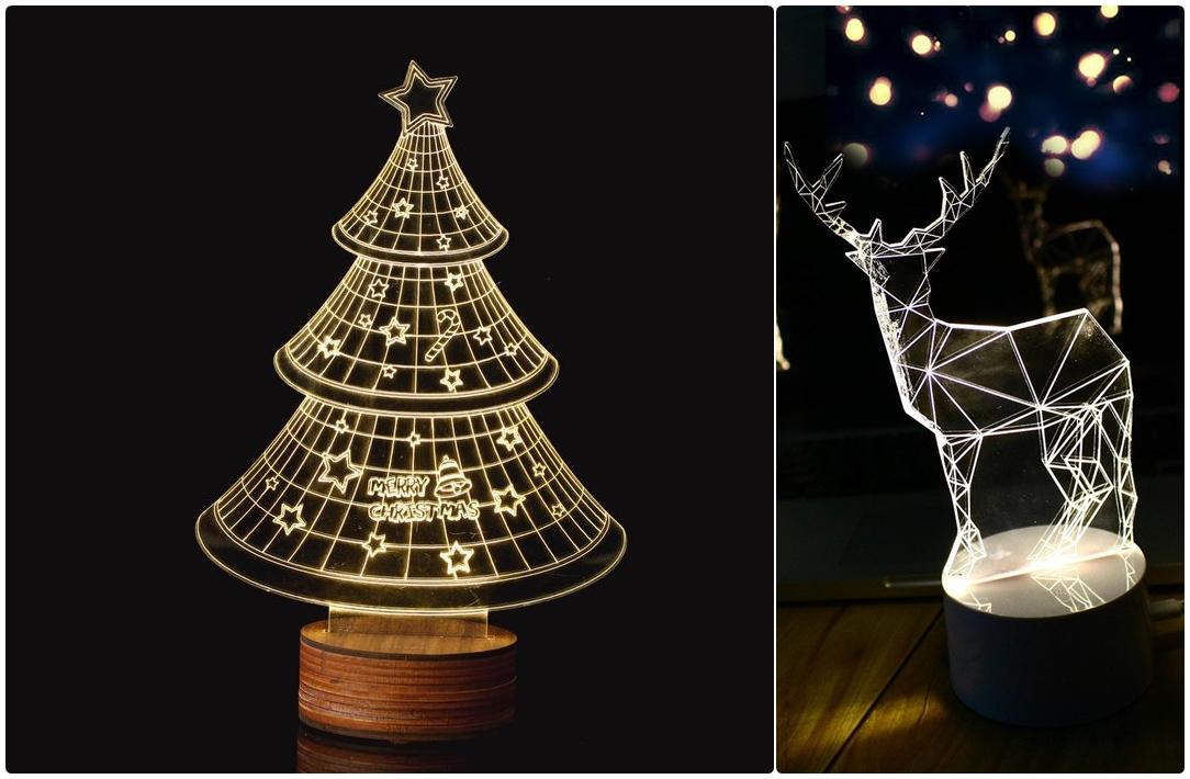 不說真的覺得是360度立體的夜燈,聖誕節也推出好多應景的樣式