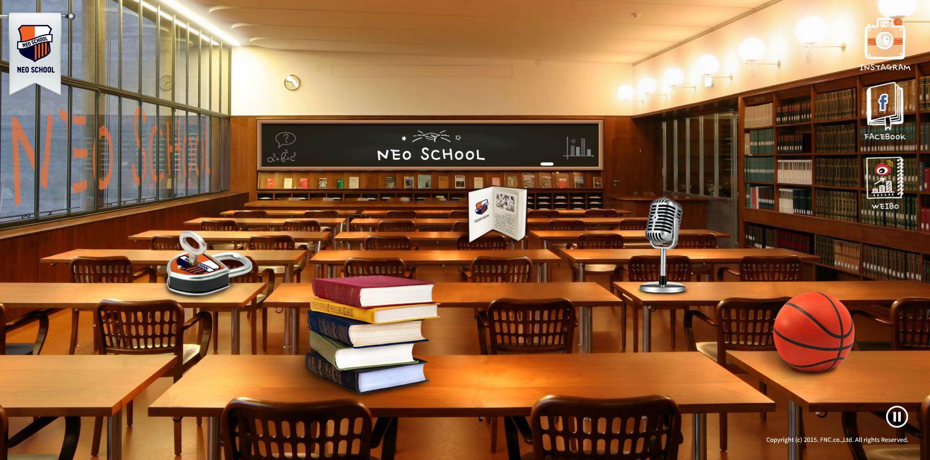 NEO SCHOOL是FNC培訓新人的最新系統,以學校生活為主題,並把即將出道的練習生取名為NEOZ,他們在NEO SCHOOL準備的過程都會呈現在觀眾面前。