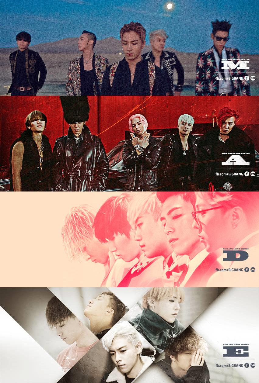 在以音源銷售為主的韓國不僅分開的四張專輯《M、A、D、E》共售出了414,013張 音源累計下載次數更高達8,795,829次  但要到BIGBANG這樣的等級還要忙碌一整年  才能擠上前三名也算是反映了韓國演藝圈的收入分佈絕對是電影>電視>>>偶像歌手的現象了