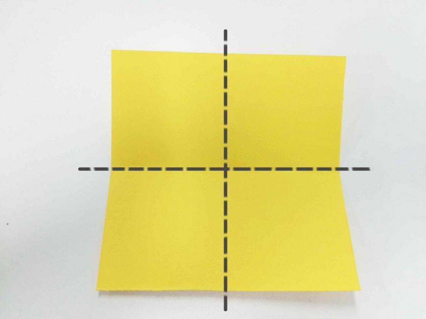 6. 沿虛線折疊再展開