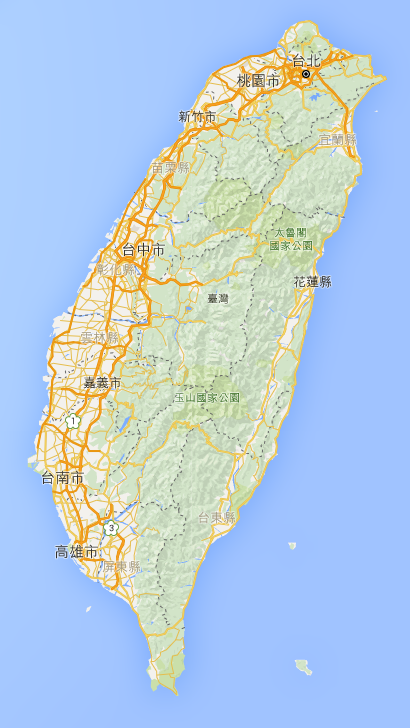 來~~最後回到我們的台灣吧!!