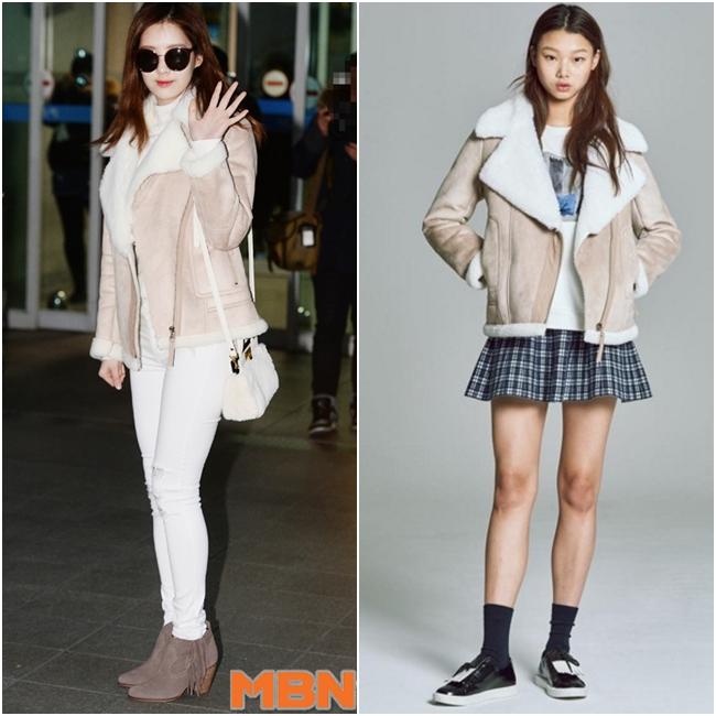徐玄的麂皮小羔羊夾克來自韓國品牌Jack and Jill,台幣約6243元。