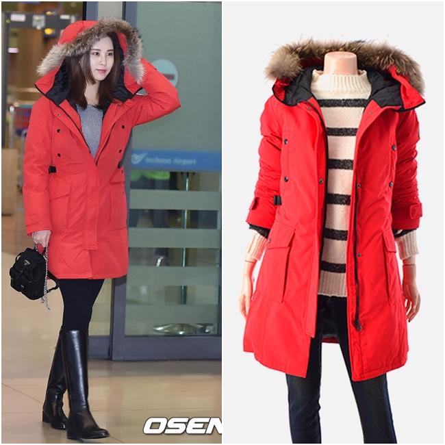 這款保暖且有修飾腰身效果的外套,是來自NII,台幣約4221元。