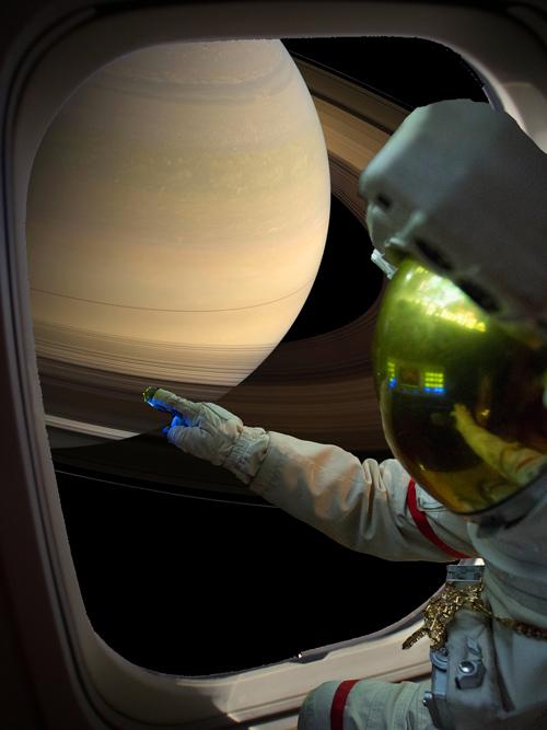 嘻哈魂上身 彷彿在我自己的小宇宙裡 看到了土星環啊! 啊啊…現在不是陶醉的時候