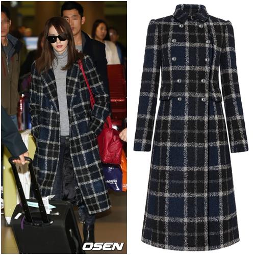 潤娥的格紋長外套來自英國品牌FAY,這個牌子雖然很低調,卻受到國際上許多名模、名媛大力推荐呢!長外套約五萬台幣左右。