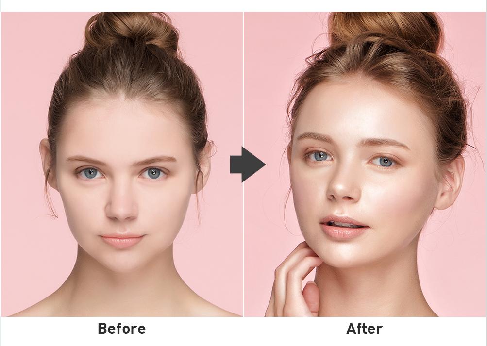 將將!這樣就完成囉!看看Before & After是不是差很多呢?重點是超‧自‧然,不是讓人一看就知道你有修容的妖豔感♬