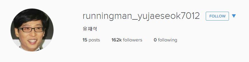 不過就在昨天劉在錫突然宣佈開設Instagram 而且一天之內就吸引了16萬2千多人追蹤他的IG 看得出來劉大神確實號召力無限!