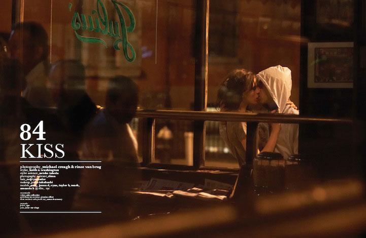 6. Michael Creagh 攝影師拍攝了一組情侶們正在接吻的系列照片,他認為「真正的感情是無法強求」,並且誠摯地邀請了模特和她們真正的戀人一同拍攝了這些照片。