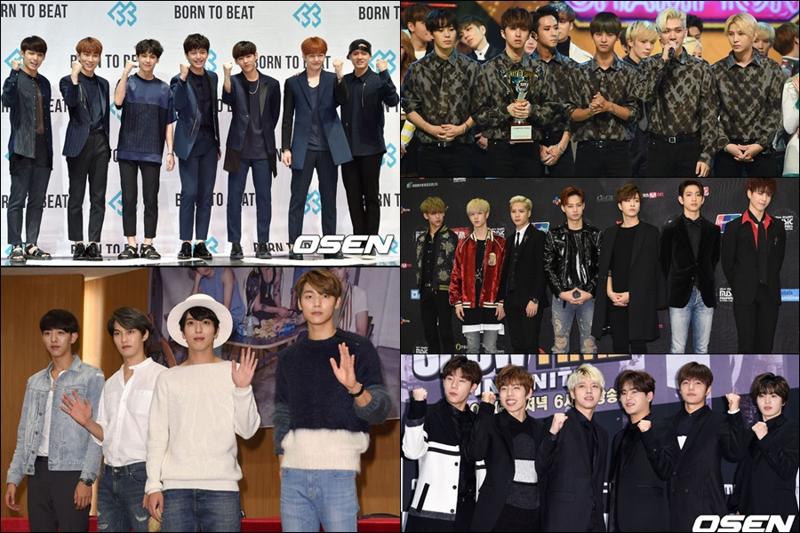 INFINITE、GOT7、CNBLUE、BTOB 和 VIXX 也是三家電視台都會參加。