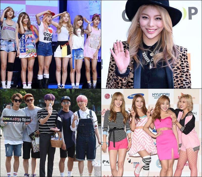 Ailee、B1A4、Apink 和 MAMAMOO 也會三家電視台都參加。