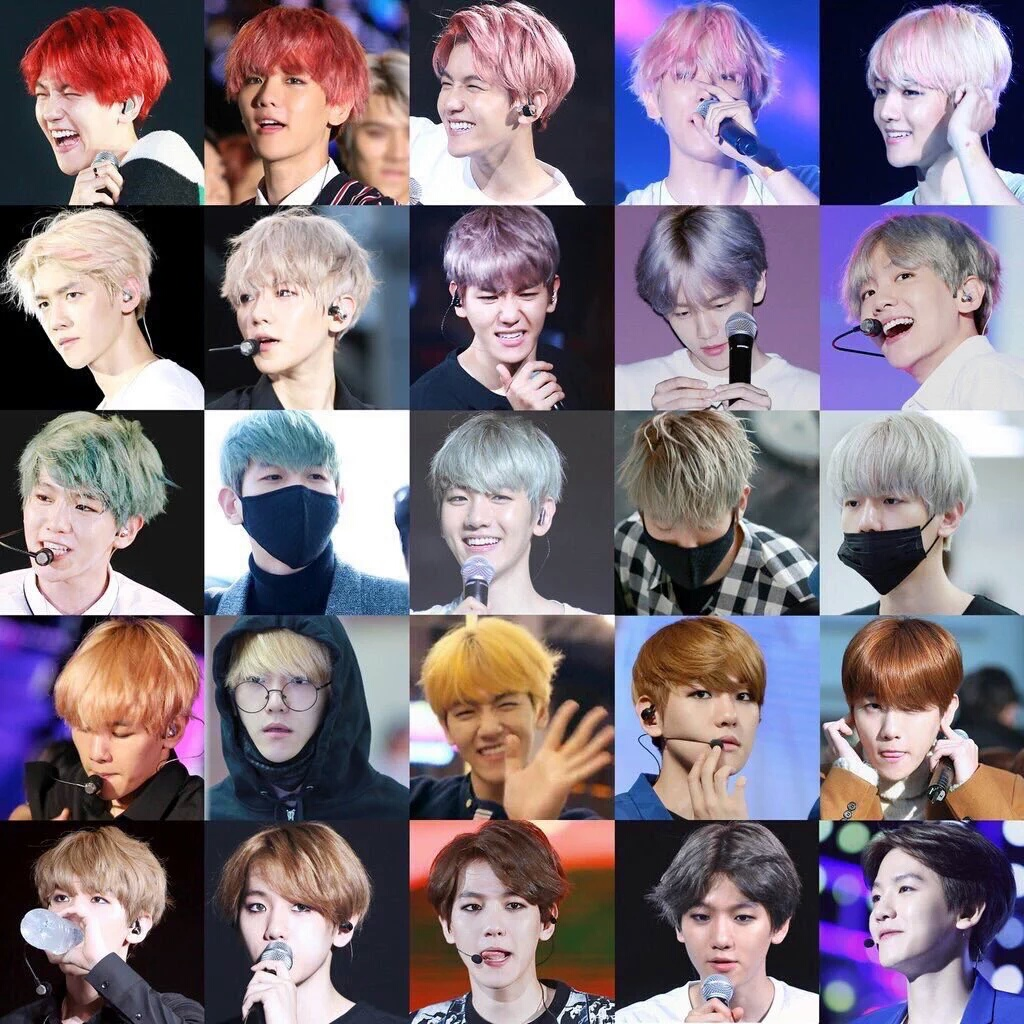雖然伯賢其實滿適合所有顏色的 但歌迷還是希望他不要一直換髮色啊!