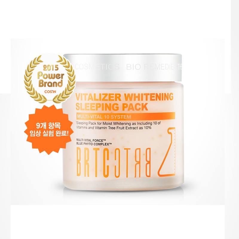 # BRTC-Vitalizer Whitening Sleeping Pack 「敷完能讓肌膚彈力UP!慢慢地有亮白的感覺,也能預防皺紋產生。」