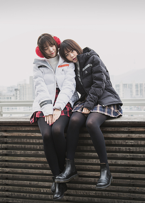短款羽絨外套twins look ...♥