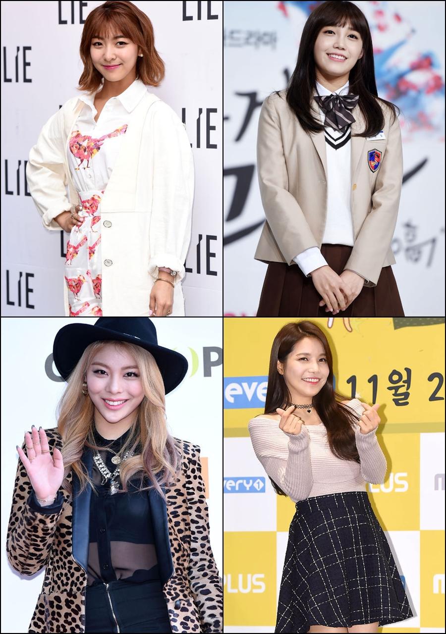 f(x) Luna、Apink 鄭恩地、MAMAMOO 頌樂和 Ailee 也將會一起表演,這四位都有上過「蒙面歌王」、歌唱實力備受肯定的女孩們,不知道會展現出怎麼樣的舞台。