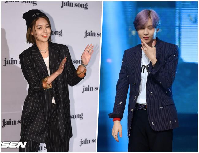 雖然正裝早就行之有年,但今年韓國更流行的是將正裝與休閒單品配在一起!例如運動鞋、毛帽、復古T恤、寬皮帶等!