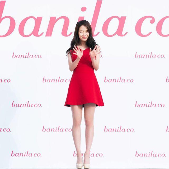 大家都知道banila co這個韓國美妝品牌嗎?前幾天代言人宋智孝還來台灣宣傳呢…聽說本人真的超‧可‧愛的♥