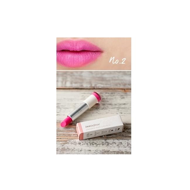 Innisfree 絲柔炫彩口紅 #2 sweet cocktail pink  $410 奶油般絲滑的觸感,顯色度高,也很有潤澤感!