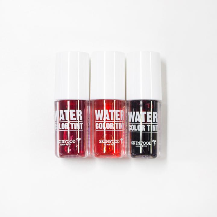 ▶ WATER COLOR TINT #1 桃紅色, #3 橘色, #6 紅色 (價格:KRW 4,000)
