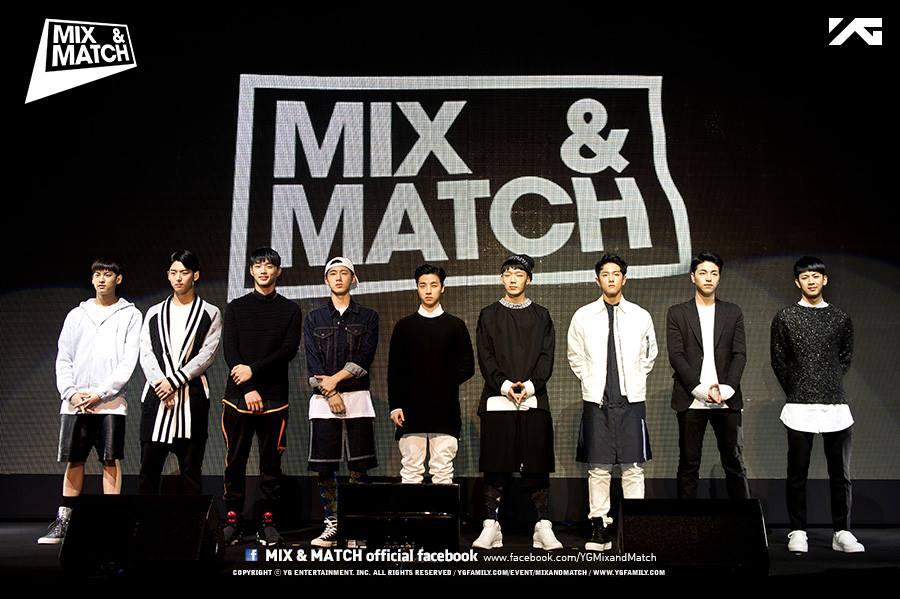 #2:MIX & MATCH  《MIX & MATCH》是由 YG 娛樂繼《WIN》後推出的生存節目,參與的成員包括 Team B 的 B.I、Bobby、金振煥、宋允亨、金東赫、具俊會等 6 人,以及三名練習生鄭粲右、鄭鎮馨、梁洪碩。