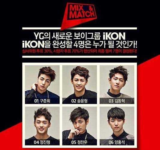 剩下的 6 位練習生,將透過節目再選四人組成「iKON」出道。