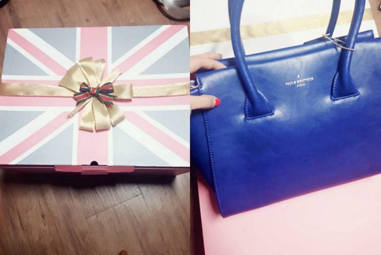 這不就是前一週Hani收到的禮物嗎?(同款不同色)