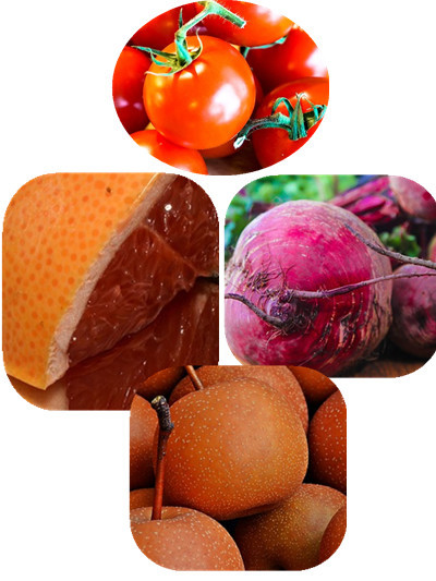 跟番茄最好的搭配,可以添加葡萄柚、甜菜根、梨等。 葡萄柚的90%是水分, 在吃完油膩的大餐以後食用的話,可以防止脂肪吸收唷! 根莖類植物的甜菜根,充滿維他命C和礦物質,可以幫助身體補充所需成分。 梨也可以有效幫助身體排出多餘鈉成分唷!