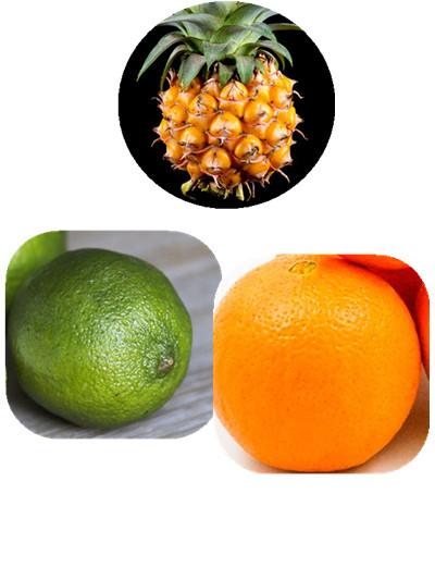 跟鳳梨最好的搭配,可以添加檸檬、香吉士。 檸檬酸可以溫和的刺激腸胃,幫助自然的消化。 香吉士因為含有果膠成分,是可以幫助腸道乳動的好幫手唷!