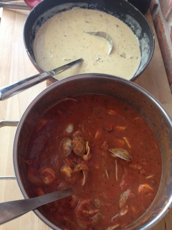 還提供奶油和番茄醬料...保證你可以找到適合自己胃口的醬料哦♡