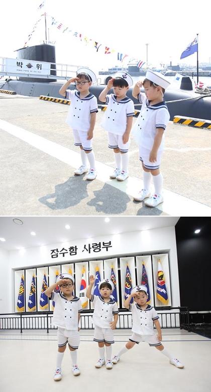 在《蔣英實》劇中還可以看到可愛三胞胎大韓、民國、萬歲客串喔XD因版權關係就讓大家回顧一下可愛海軍三胞胎的照片囉