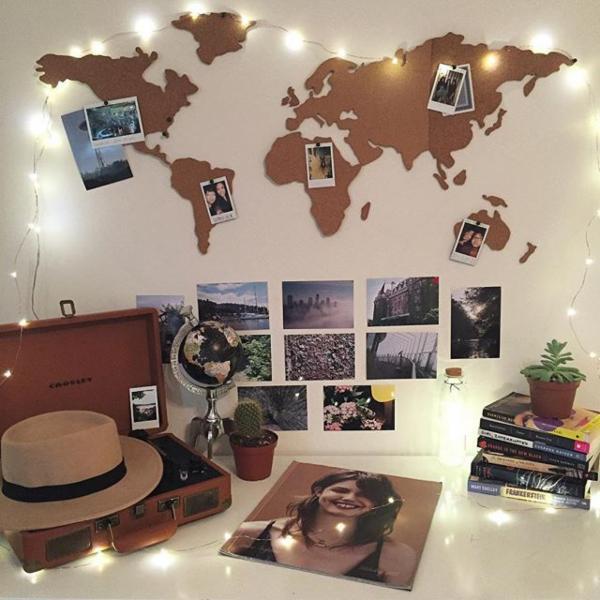 自己也可以準備這樣的小空間,放上所有旅行的回憶,每次看都覺得心裡很充實★